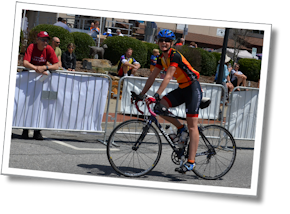 Geri finishes the Assault on The Carolinas Bicycle Race, April 13, 2013