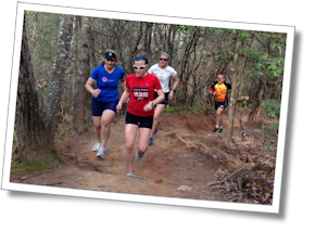 Running the trails at Tri camp.